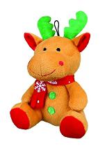 Vánoční Hračka pes Sob se šálou plyš 20cm TR 1ks*