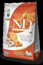 N&D GF Pumpkin DOG Adult Mini Codfish & Orange 800g