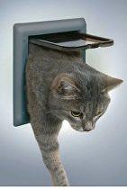 Dvířka kočka plast 4P Šedá Freecat DeLuxe Trixie 1ks