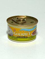 Gourmet Gold konz. kočka duš.králík a játra 85g