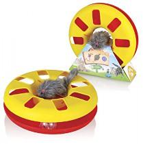 Tommi Hračka kočka Speedy ball s myškou na gumě