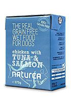 Naturea GF dog vlhké - Chicken, Tuna, Salmon 375g