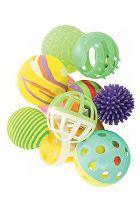 Hračka kočka sada míčků 10ks 4cm mix barev Zolux