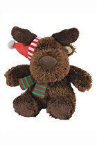Vánoční Hračka pes Sob plyš 17cm TR 1ks*