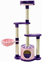 Škrábací Strom Kitty'sLovelyHome, fialový 122x58x35 Li