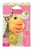 Hračka kočka LOVELY s šantou ryba Zolux