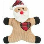 Vánoční Hračka pes Santa se zvukem 29cm TR 1ks