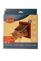 Dvířka kočka plast Hnědá 4P Freecat DeLuxe Trixie 1ks