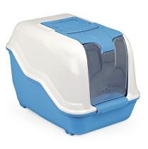 WC kočka NETTA kryté s filtrem modrá 53x39x40cm
