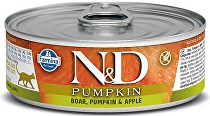 N&D GF CAT PUMPKIN Adult Boar & Apple 80g