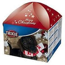 Vánoční dárková krabice pro psy červená TR