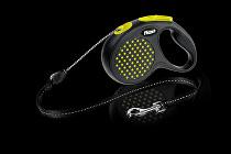Vodítko FLEXI Design S lanko 5m žlutá