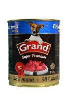 GRAND konz. Superpremium pes směs droby 850g