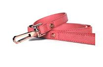 Vodítko kožené Růžové 120cm/1cm 1ks M&P