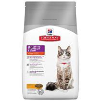Hill's Feline Dry Sensitive Stomach Skin s kuřete 1,5kg