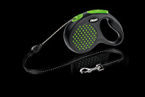 Vodítko FLEXI Design M lanko 5m zelená