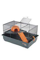 Klec myš INDOOR 40cm oranžová s výbavou Zolux