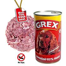 GREX konz. pes hovězí 1280g