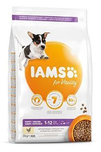 Iams Dog Puppy Small&Medium Chicken 3kg