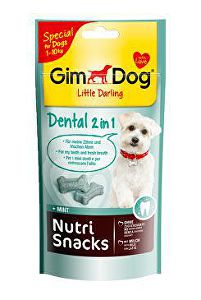 GIMDOG Nutri Snack Dental 2v1 mini kostičky 40g