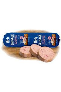 Brit Sausage Chicken & White Fish 800g New